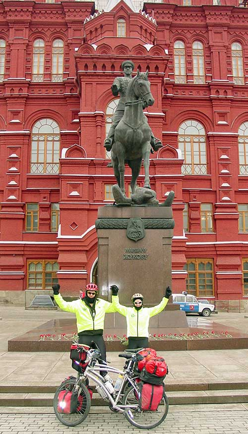 Cycling in Red Square